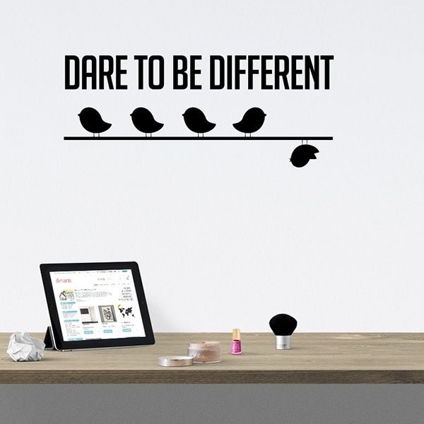 Wallsticker - Dare to be different - Flere forskellige farver