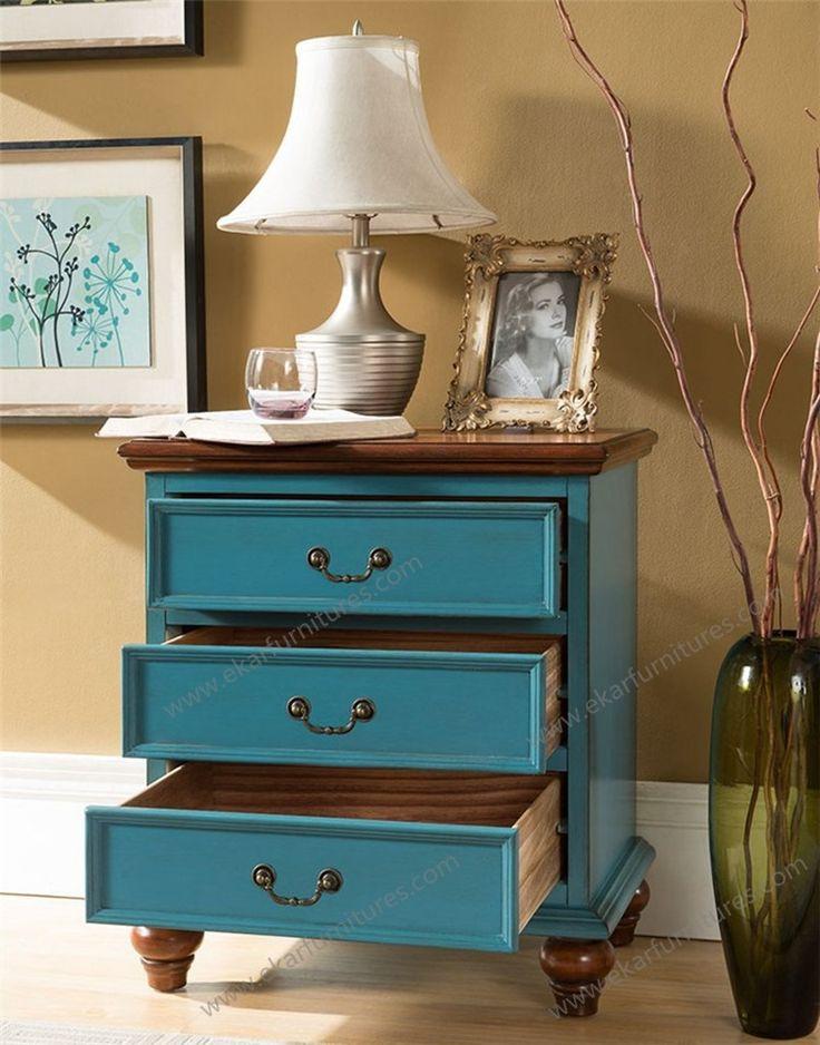 Mediterranean Style modern Storage Cabinets Furniture in Sea Blue ...