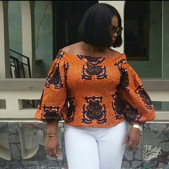 Online Hub For Fashion Beauty And Health: Stylish Classy Ankara Blouse Style For The Glamoro...