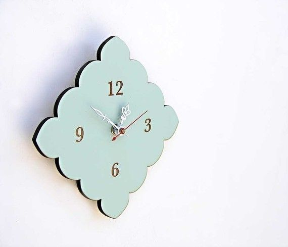 tiny scallop clock  boho style  cottage chic  vintage by uncommon, $36.00