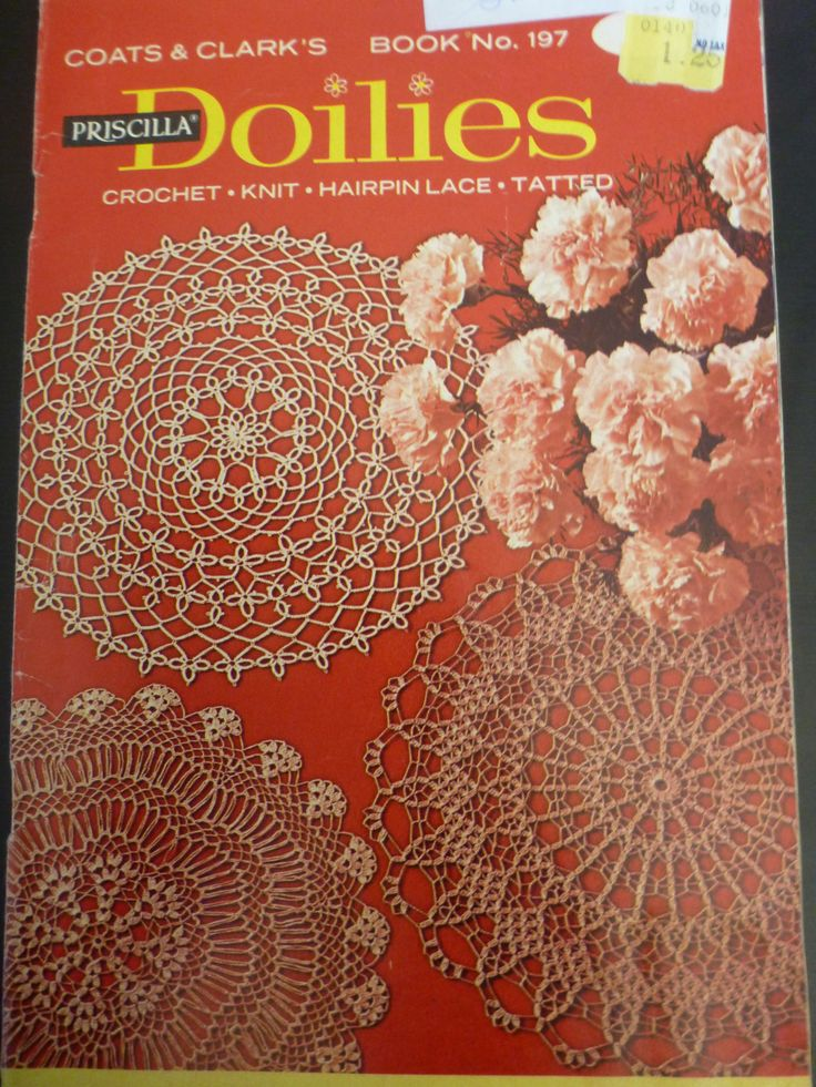 Doilies - hairpin lace, tatted, knit and crochet by Coats & Clark - Book No. 197 - 949 by CarolsCreations77 on Etsy
