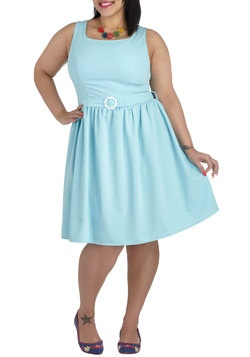 Out of the Sky Blue Dress in Plus Size, #ModCloth