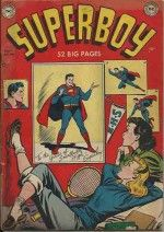 SUPERBOY (1949)  6 GD+ £95 Light sun shadow top and left edges of cover.