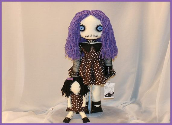 OOAK Hand Stitched Doll Creepy Gothic Folk Art By by TatteredRags, $140.00