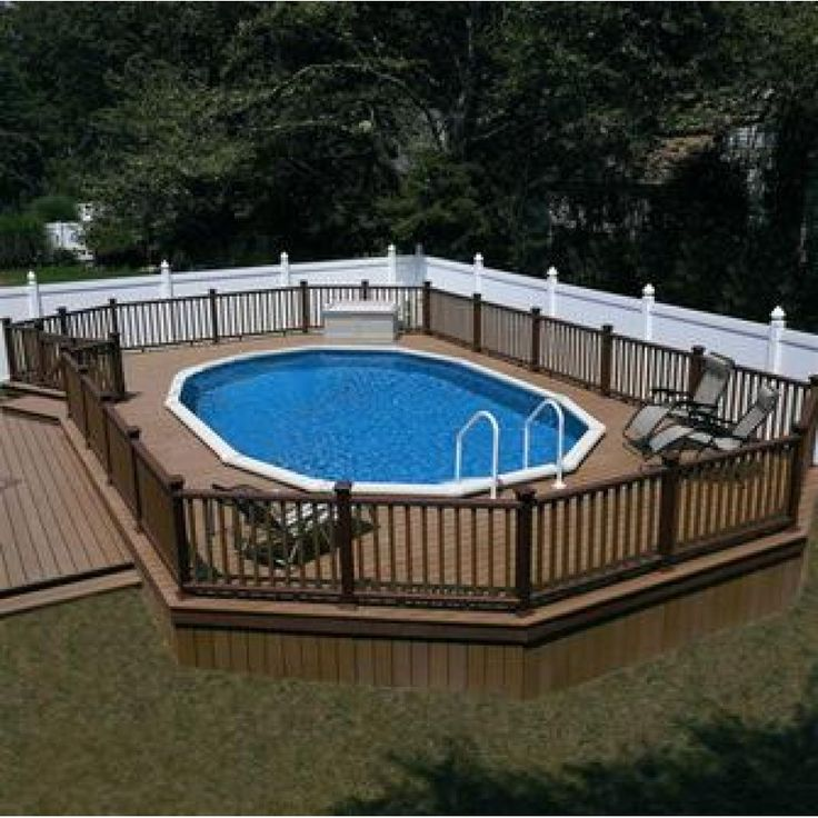 Semi Above Ground Pools Monument 52 Semi Inground Or Above Ground Aluminum Pool Ideas For