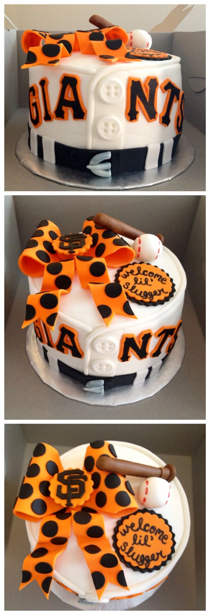 San Francisco Giants baseball themed baby shower cake for a baby girl!  By Tasha McKinley, Coleville, CA