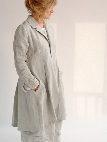 Terry Macey and Angelika Elsebach. Fashion Design. Natural fabrics, linen, silk and wool. Bespoke design in Somerset.