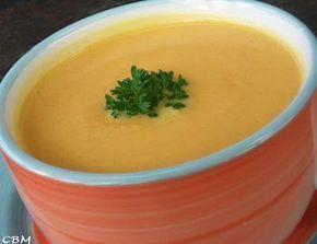 Potage de carottes et de navet à l'érable (remplacer le bouillon de poulet par du bouillon de légumes of course)