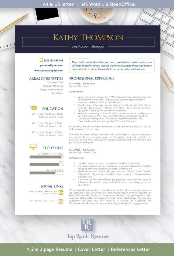 Pro Kit | Resume Template, Cover Letter, References Letter ...
