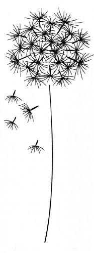dandelion stamp for embossing