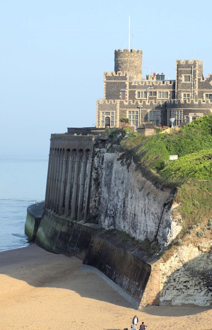 Kingsgate Castle in Broadstairs, Kent, England was built for Lord Holland, 1st Baron Holland, in the 1760s. The castle has now been converted into apartments, what a view!