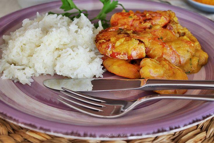 Curry di gamberi e latte di cocco