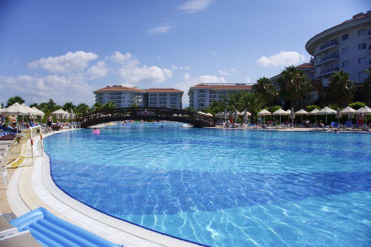 Pool area, Sea world resort & spa. Side, Turkey.