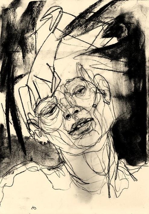 szkic; portret...