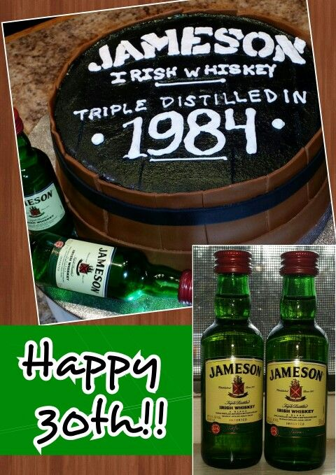 Jameson whiskey barrel cake by Karen's Kaykes