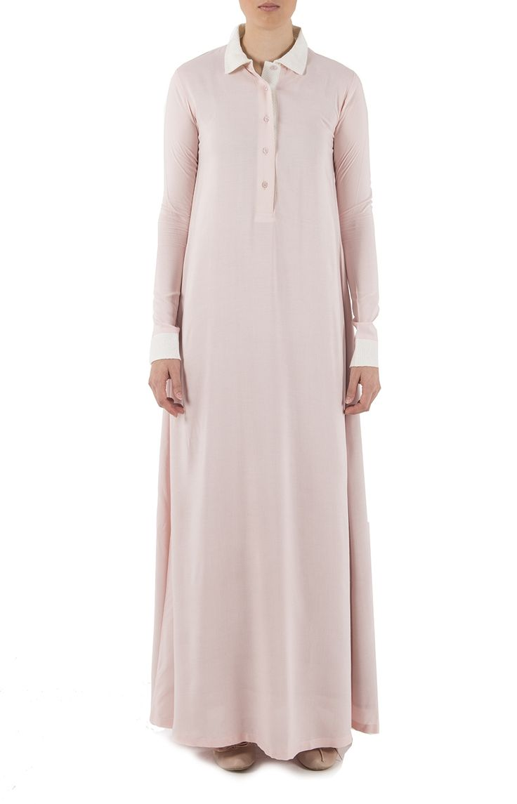 Aab UK Classic Polo Pink Abaya : Standard view