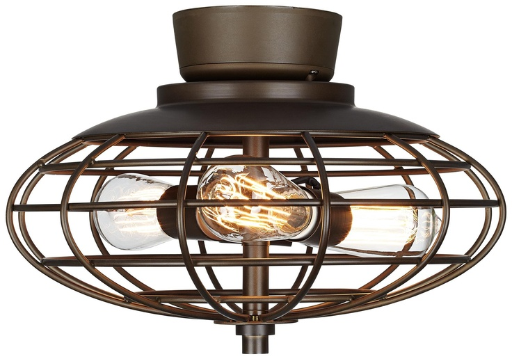 Oil Rubbed Bronze Industrial Cage 3 60 Watt Ceiling Fan