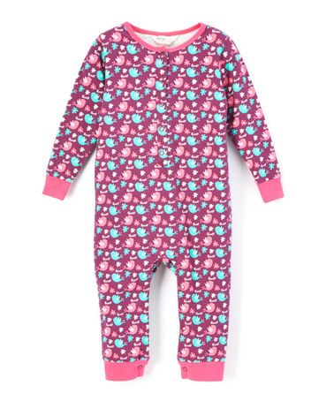 Look what I found on #zulily! Pink Bird Organic Playsuit - Infant #zulilyfinds