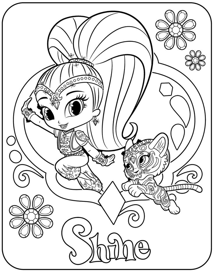 It is an image of Enterprising Shimmer Shine Coloring Pages