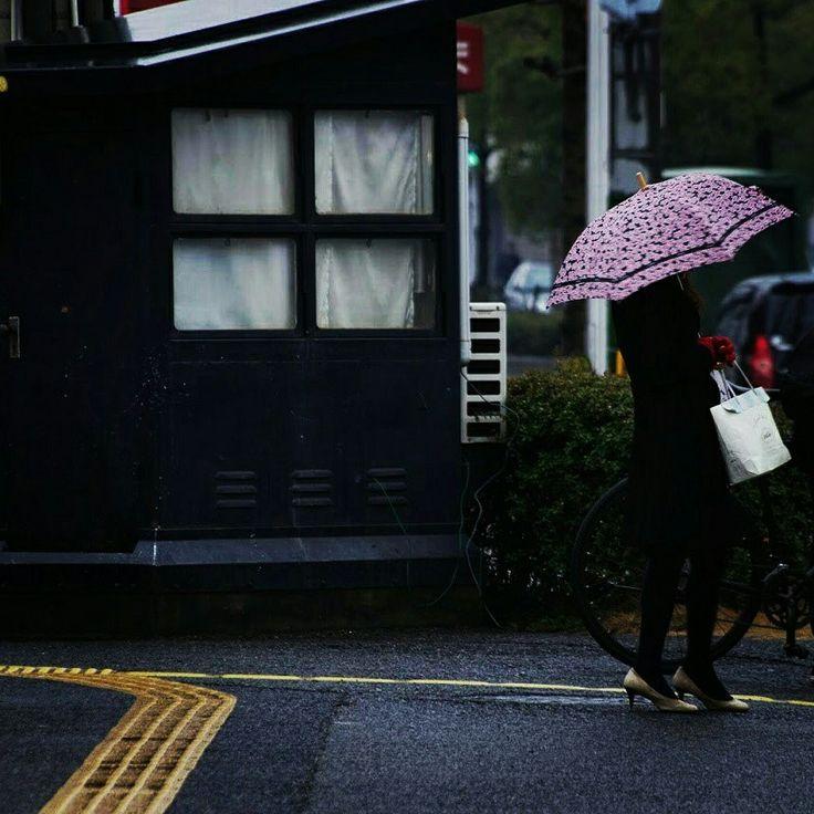 雨降りの日に