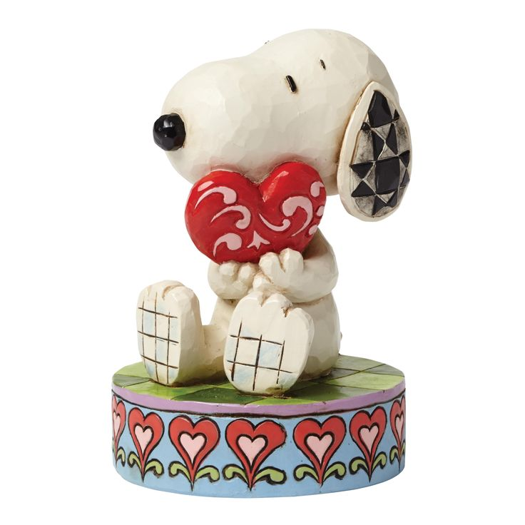 4049396 I Love You (Snoopy)- Snoopy shows his romantic side in this heartfelt design combining the lovable beagle from Peanuts with the unique decorative style that is unmistakably Jim Shore #peanuts #snoopy #jimshore