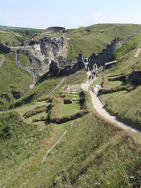 The ruins of King Arthur's Tintagel Castle