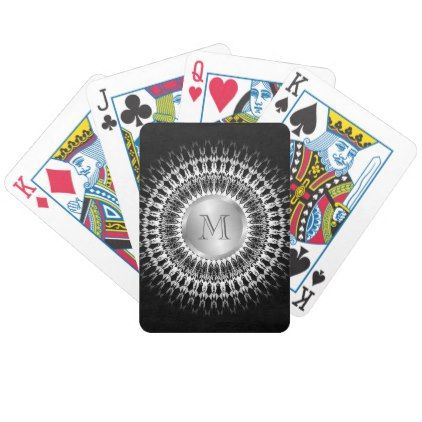 Black And White Mandala Bicycle Playing Cards - pattern sample design template diy cyo customize