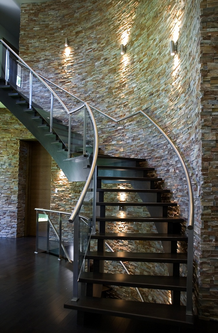 17 best images about natural stone in hallways on for Curved wall