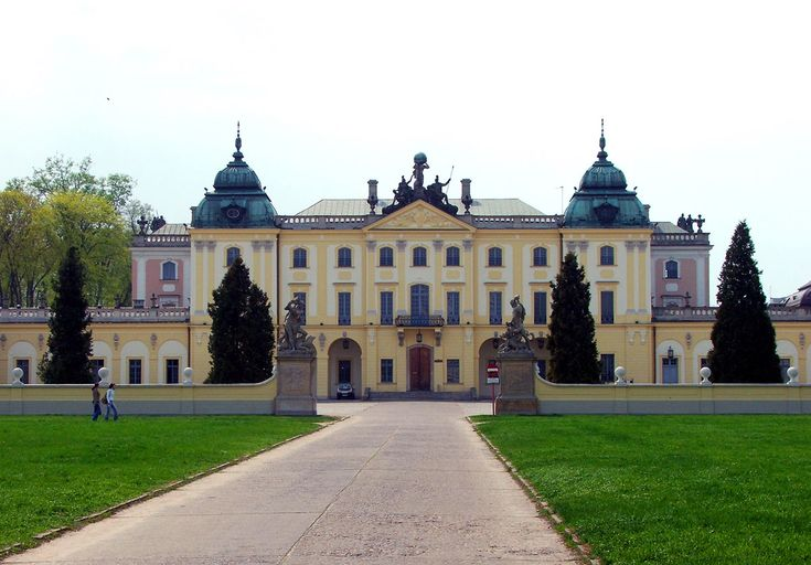 Cour d'honneur and corps de logis of the Branicki Palace in Białystok