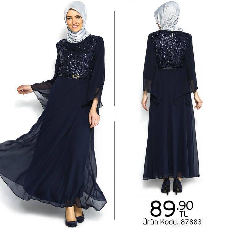 Payetli abiye elbise ile gecenin yıldızı sensin!