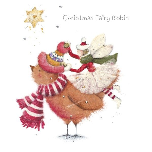 Cards » Christmas Fairy Robin » Christmas Fairy Robin - Berni Parker Designs