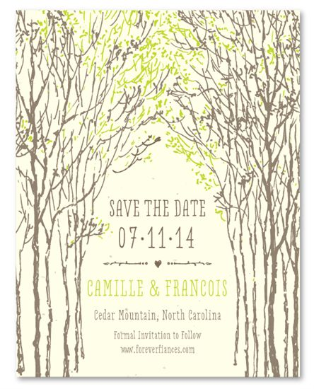 Save the Date Cards on Plantable Paper ~ Southern Trees by ForeverFiances Weddings