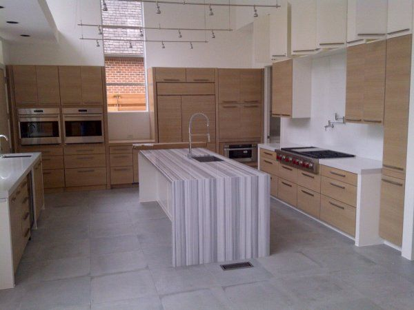 Kitchen Custom Cabinets White Oak, Rift Cut, Horizontal Grain Stain Grade U0026  Paint
