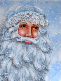 Old Man Winter Painted Canvas by Jillybean Fitzhenry  i have painted  with her... A Delight!