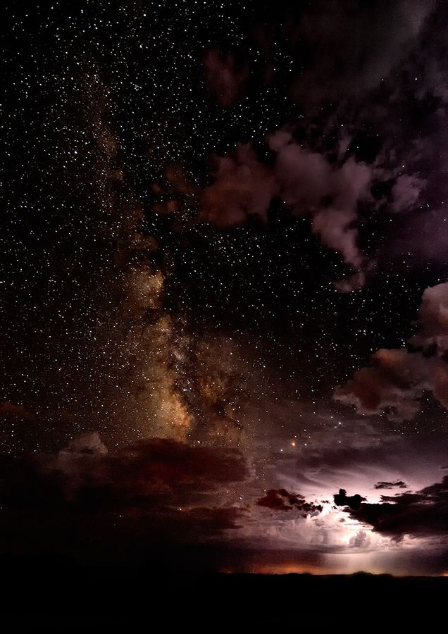 Thunder and the Milky Way by Christopher Eaton, via 500px; Kaibito Plateau, Arizona