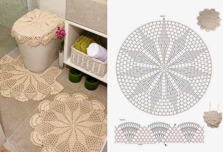 Armarinho São José: Jogo de Banheiro em Crochê com Gráfico.