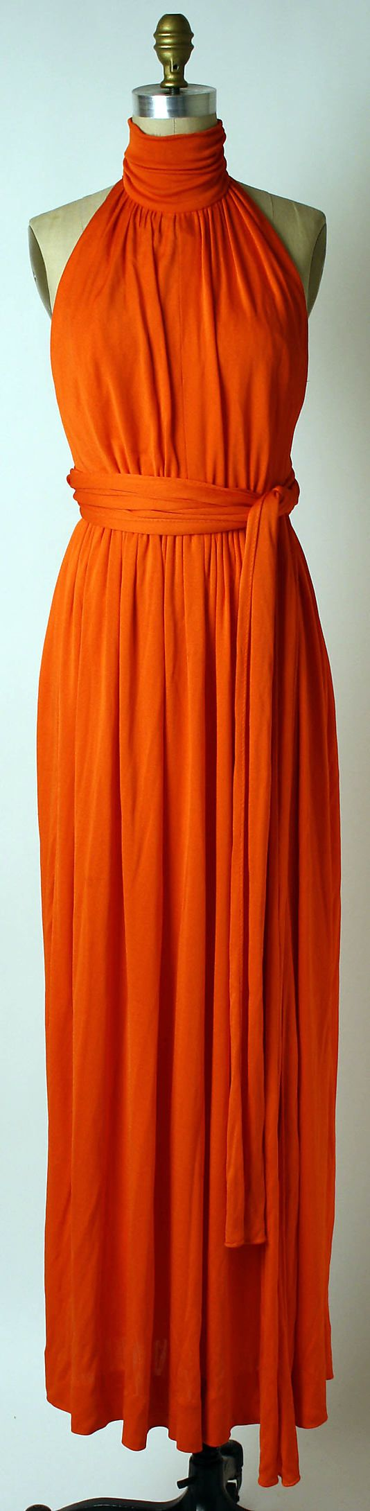 Evening dress Donald Brooks (American, 1928–2005) Date: ca. 1972 Culture: American Medium: synthetics