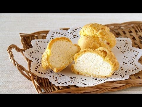 How To Make Ice Cream Puffs (Choux Pastry filled with Parfait Glacé) Recipe シューアイスの作り方 レシピ - YouTube