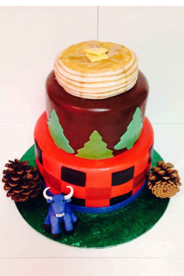 Lumberjack birthday cake/ Paul Bunyan