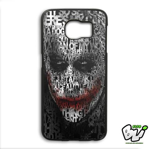 Joker Quotes Typhography Samsung Galaxy S6 Edge Case