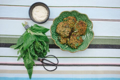 Chia Seed & Silverbeet Fritters