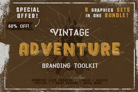 Vintage Adventure Branding Toolkit by JeksonGraphics on @creativemarket
