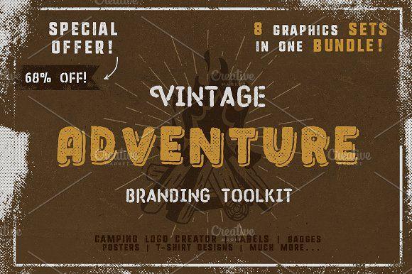 Vintage Adventure Branding Toolkit by JeksonGraphics on @creativemarket