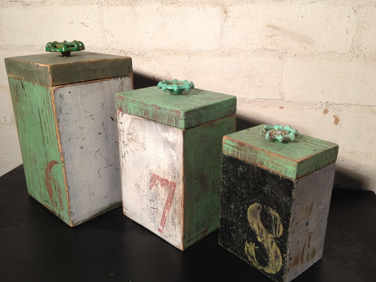 Who said new can't look Vintage Industrial old :) Our Quirky Funky Canisters