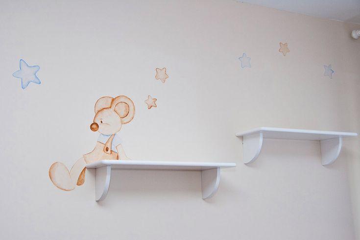 ratoncitos en la pared