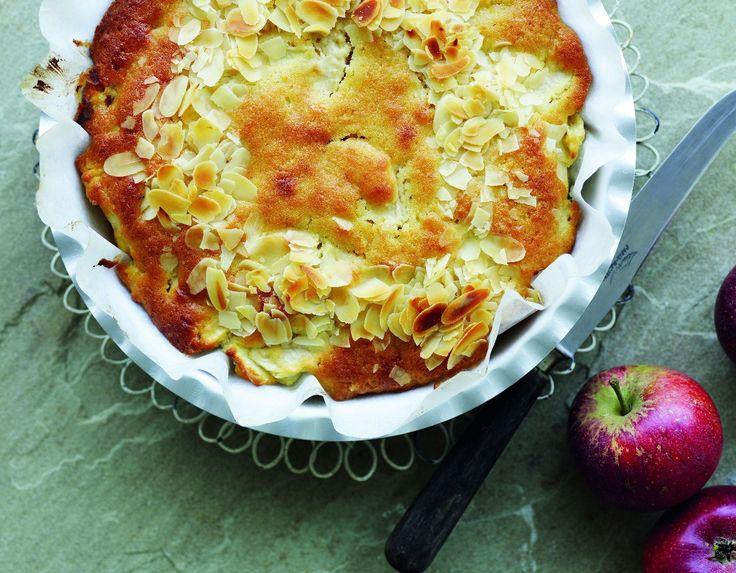 Æblekage med marcipan - www.sæson.dk