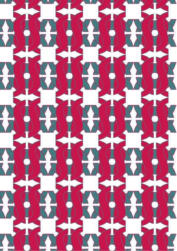 """Nome font: Avenir Stile carattere: Heavy Oblique Type designer: Adrian Frutiger  Anno di creazione: 1988 Pattern 3 (colore) : """"ARMONIOSO"""" , o, Avenir ,Heavy oblique  Commento: ho scelto un tipo di glifo per rappresentare l'armonia del mio font, essendo molto sinuoso. Ho deciso di basare il mio pattern sui colori molto intensi per intensificare la sua armonia. I colori che ho deciso di impiegare sono il rosa e il verde."""