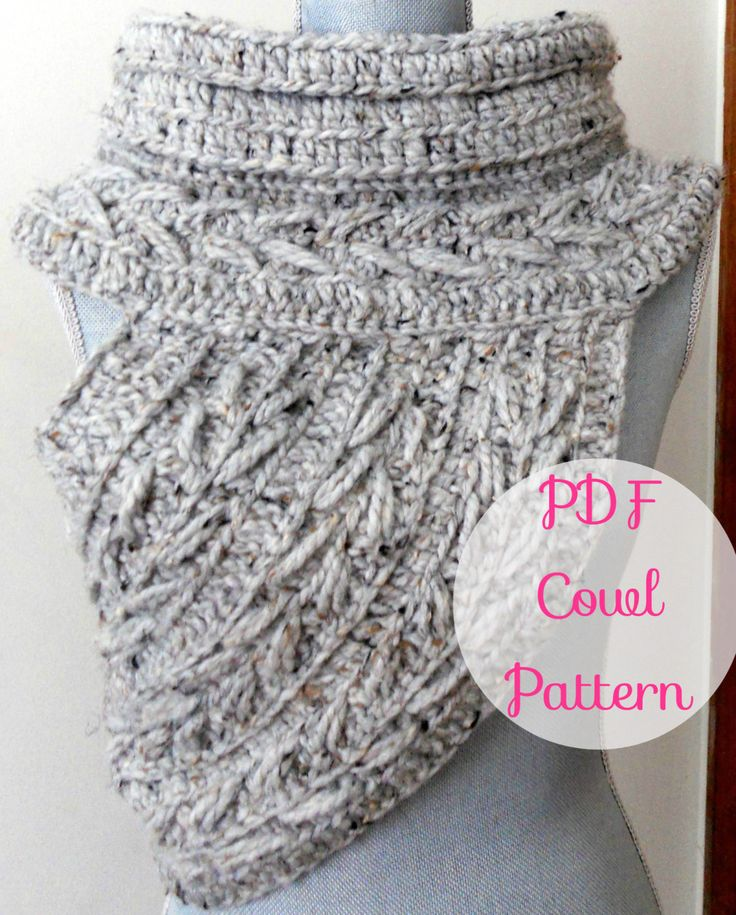 Katniss Cowl Inspired Crochet Pattern~ (Scarf Shawl Huntress Vest Sweater Archer arrow Infinity Scarf Chunky Wool Pattern) Katniss Knitwear January 27, 2015 at 01:03PM