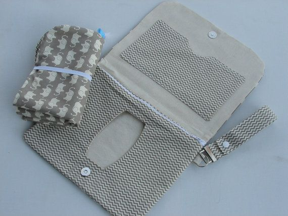 Elephant pattern nappy wallet with matching by BitsandBobs4Bubs, $45.00