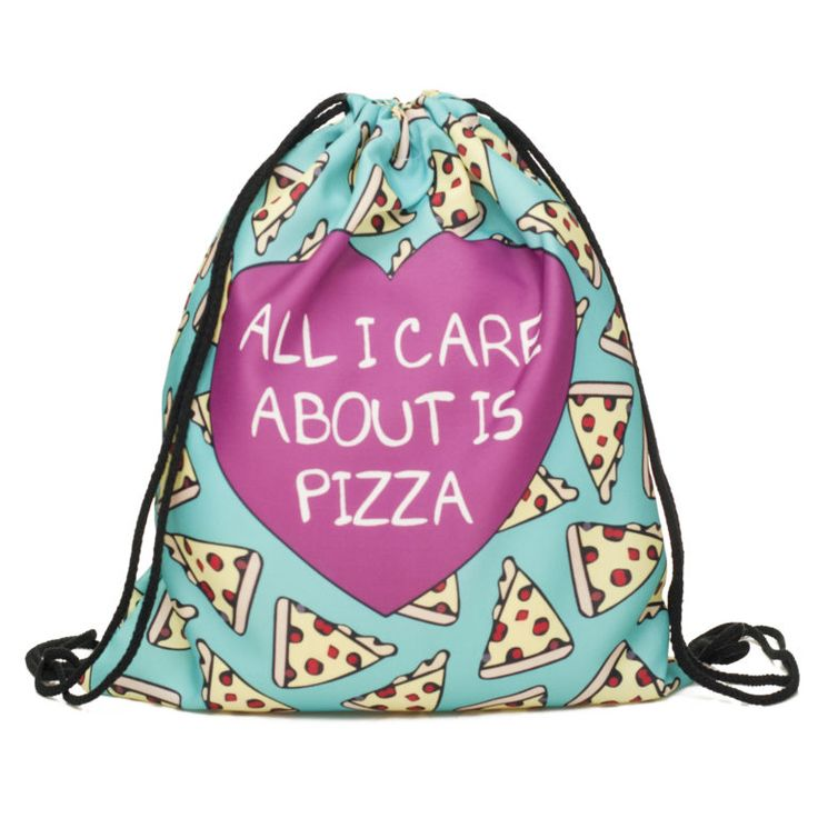 All I Care About Is Pizza Draw String Bag £8 // Free UK Delivery  https://www.teeisland.co.uk/shop/all-i-care-about-is-pizza-draw-string-bag/